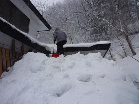 社長雪よせ