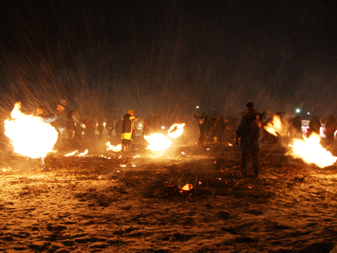 角館の火振りかまくら写真